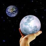 Die Erde und der Mond Lizenzfreie Stockfotografie