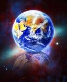 Die Erde, unser Hauptplanet Terra, im Platz Lizenzfreie Stockfotografie