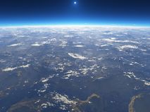 Die Erde vom Platz stock abbildung