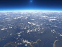 Die Erde vom Platz Stockbild