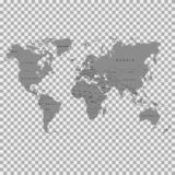 Die Erde, Weltkarte auf grauem Hintergrund antarktik Auch im corel abgehobenen Betrag lizenzfreie abbildung