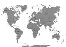 Die Erde, Weltkarte auf weißem Hintergrund antarktik Auch im corel abgehobenen Betrag lizenzfreie abbildung