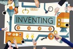 Die Erfindung verfassen entdecken Produktions-Konzept vektor abbildung
