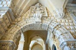 Die erhabene Kunst des Steins von Lecce Stockbilder