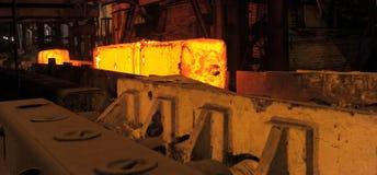 Die erhitzten Stahlschweine Stockfoto