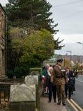 Die Erinnerungs-Parade auf Erinnerung Sonntag 2016 in Wrexham Wales stockfotografie