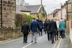Die Erinnerungs-Parade auf Erinnerung Sonntag 2016 in Wrexham Wales stockbilder