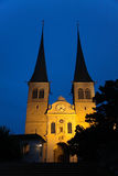 Die ernste Kirche - Hofkirche, in der Luzerne, die Schweiz Stockfoto