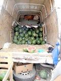 Die Ernte von Wassermelonen in Tiflis Lizenzfreie Stockfotografie