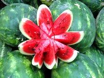 Die Ernte von Wassermelonen in Tiflis Stockfotos