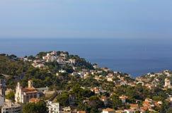 Die erstaunliche Flächenansicht über Marseille Stockbild