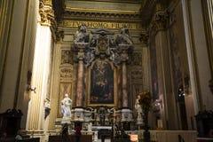 Die erstaunliche Kirche von St. Andreas in Rom Italien Stockfotos