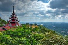 Die erstaunliche Schönheit der Pagode buchstäblich Wunsch-erfüllendes Sutaungpyei Stockfoto