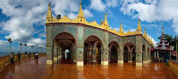 Die erstaunliche Schönheit der Pagode buchstäblich Wunsch-erfüllendes Sutaungpyei Lizenzfreie Stockbilder