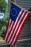 Die erste Flagge der Vereinigten Staaten mit Stern 13 Stockbild