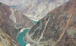 Die erste Schlaufe des Yangtze-Flusses stockbilder