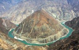 Die erste Schlaufe des Yangtze-Flusses lizenzfreies stockfoto
