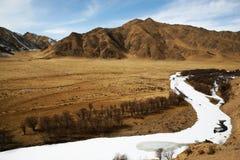 Die erste Schlaufe von gelbem Fluss Stockbild