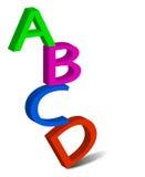 Die Buchstaben Stockfoto