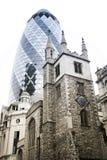Die Essiggurkewolkenkratzerstadt von London Lizenzfreie Stockfotos