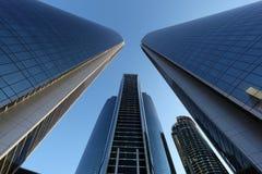Die Etihad-Türme in Abu Dhabi Stockfotos