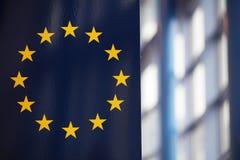 Die EU kennzeichnen; Sonnenstrahlreflektieren Lizenzfreies Stockfoto