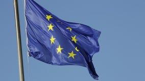 Die Europa-Flagge stock video footage