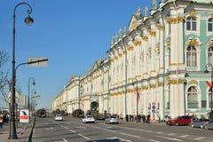 Die Evakuierung der militärischer Ausrüstung auf Palastkai nach dem en Lizenzfreies Stockbild