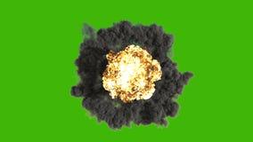Die Explosion einer Atombombe Realistische Animation 3D der Atombombenexplosion mit Feuer, Rauche und Atompilz herein vektor abbildung