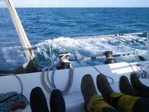 Die Füße der Mannschaft Lizenzfreie Stockfotos