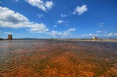 Die fabelhaften Salzpfannen von Trapan Lizenzfreies Stockfoto
