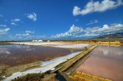 Die fabelhaften Salzpfannen von Trapan Stockfoto