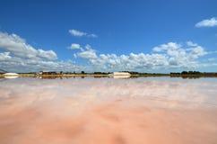 Die fabelhaften Salzpfannen von Trapani Stockfotos