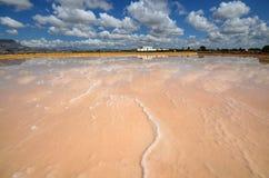 Die fabelhaften Salzpfannen von Trapani Lizenzfreies Stockbild
