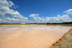 Die fabelhaften Salzpfannen von Trapani Stockfoto