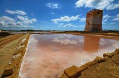 Die fabelhaften Salzpfannen von Trapani Lizenzfreie Stockbilder
