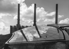 Die Fabrik in einer Stadt Wolfsburg, Deutschland Stockfotografie