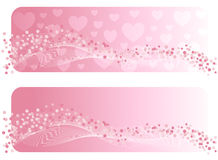 Die Fahne des Valentinsgrußes. Lizenzfreies Stockbild