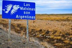 Die Falkland Inseln sind Argentinien stockfoto