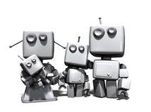 Die Familie des Roboters 3D Lizenzfreies Stockbild