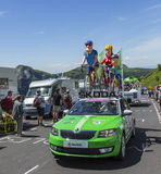 Die Familie Skoda - Tour de France 2016 Stockfotografie