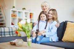 Die Familien-Porträt der Frauen lizenzfreies stockfoto