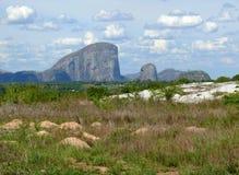 Die fantastische Beschaffenheit von Mosambik. Berge. Afrika, Mozambiqu Stockfotografie