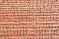Die Farbbeschaffenheit der alten Backsteinmauer, Weinlese, Oberfläche, abstrakter Hintergrund Lizenzfreie Stockbilder