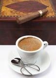 Die Farbe des Kaffees Lizenzfreies Stockfoto