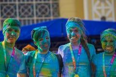 Die Farbe laufen in Prag, Tschechische Republik Lizenzfreie Stockfotos