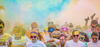 Die Farbe laufen in Prag, Tschechische Republik Stockfoto