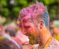 Die Farbe laufen in Prag, Tschechische Republik Stockfotografie