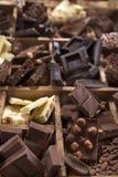 Die Farben der Schokolade Lizenzfreies Stockbild