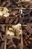 Die Farben der Schokolade Lizenzfreies Stockfoto
